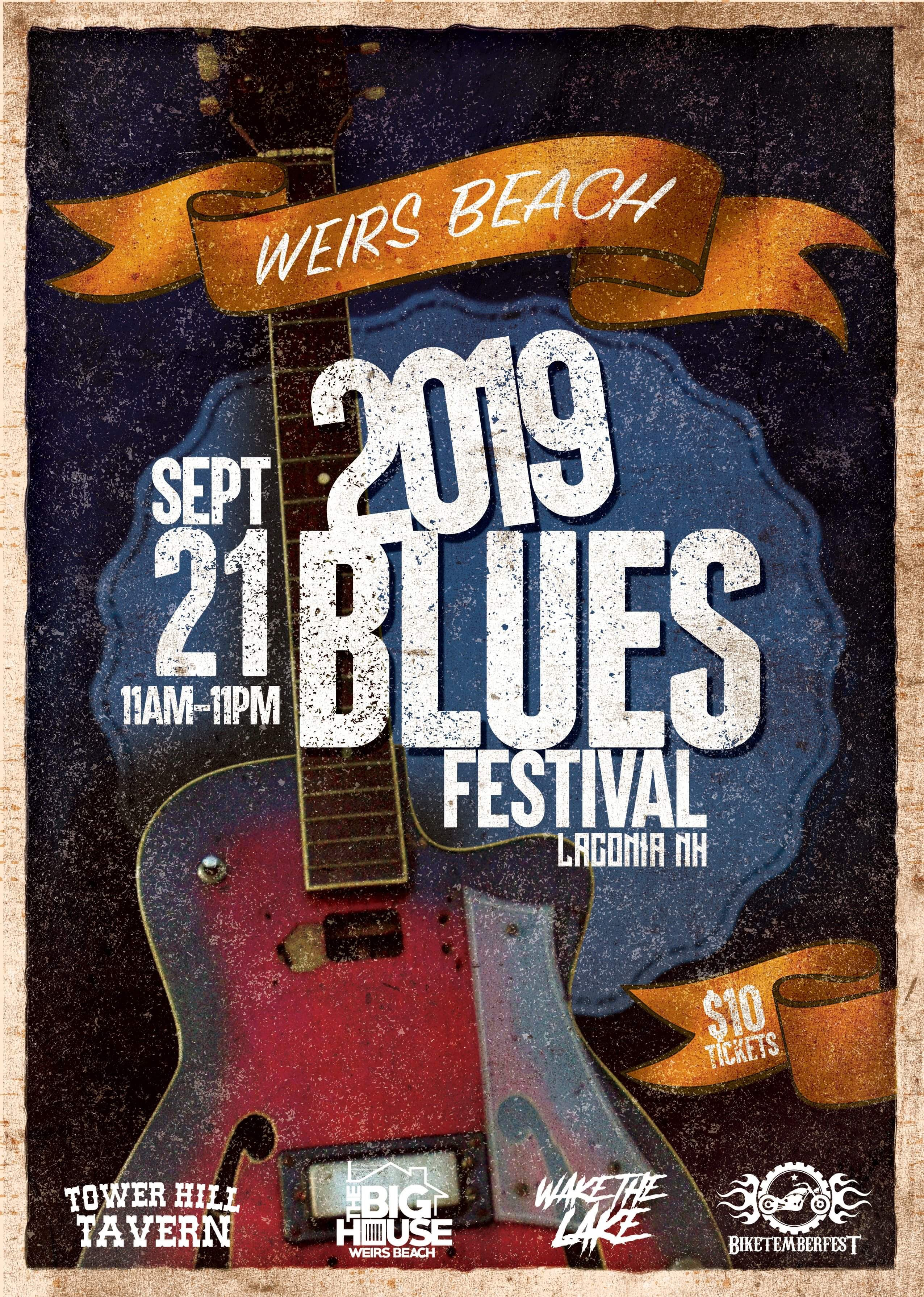 2019 Laconia Blues Festival Flyer